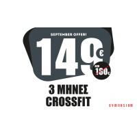 3 Μήνες Συνδρομή CrossFit 149€ (Μόνο Κέντρο)